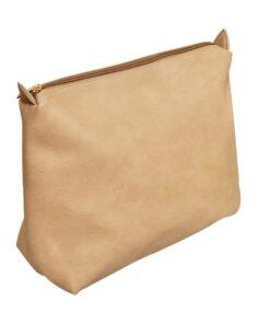 Beige firkantet mulepose