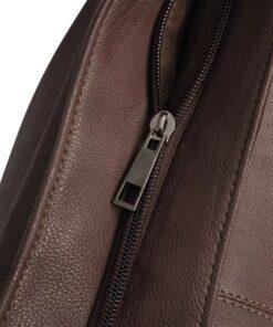 Mørkebrun stor håndtaske