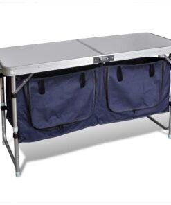 vidaXL sammenklappeligt campingbord med aluminiumstel