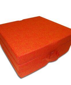 vidaXL foldeskummadras 190 x 70 x 9 cm orange