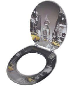 Toiletbræt med MDF Låg New York Design
