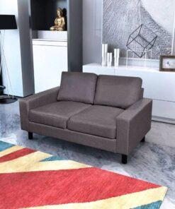 vidaXL 2-pers. sofa i stof mørkegrå