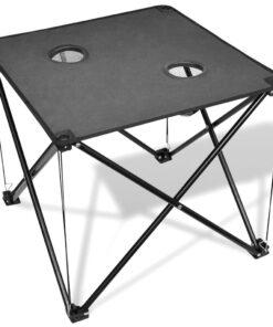 Sammenfoldeligt campingbord, grå