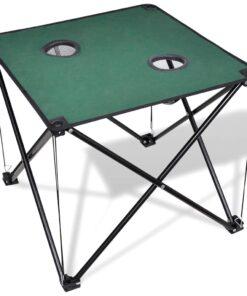 Sammenfoldeligt campingbord mørkegrøn