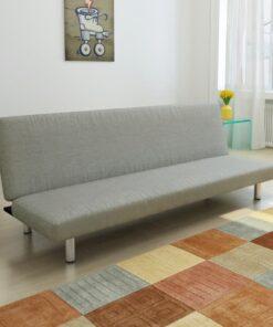 vidaXL sovesofa grå polyester