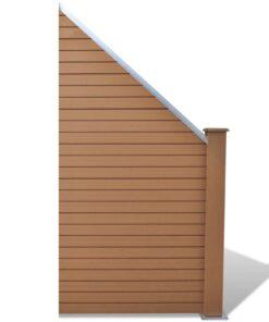 vidaXL hegnspanel WPC 105 x (105-185) cm brun