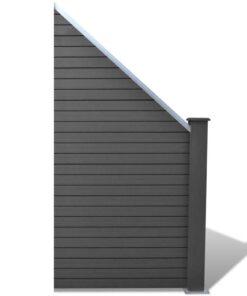 vidaXL hegnspanel WPC 105 x (105-185) cm grå