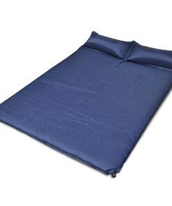 Blå selvoppustelige liggeunderlag 190 x 130 x 5 cm (Dobbeltværelse)