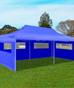 vidaXL foldbart pop-up-festtelt 3 x 6 m blå