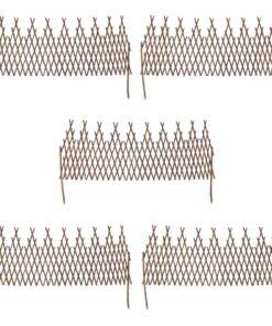 5 udtrækshegn, pil, 170×55 cm