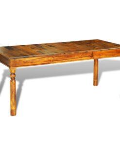 vidaXL spisebord massivt sheeshamtræ 180 x 85 x 76 cm