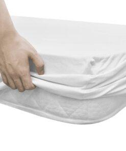 Tilpasset lagen til madras 2 stk. 180 x 200/200 x 220 cm bomuldsjersey