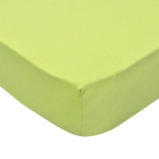Tilpasset lagen til madras 2 stk. 90 x 190 – 100 x 200 cm bomuldsjersey