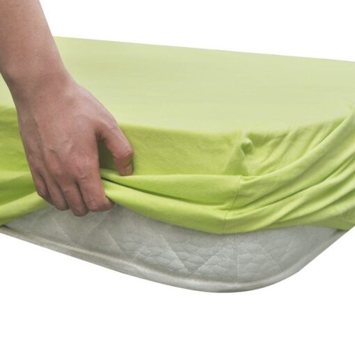 Tilpasset lagen til madras 2 stk. 180 x 200 – 200 x 220 cm bomuldsjersey