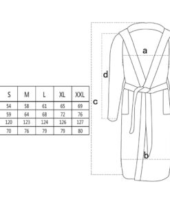 Unisex frottebadekåbe 100 % bomuld 500 g/m² sort XL