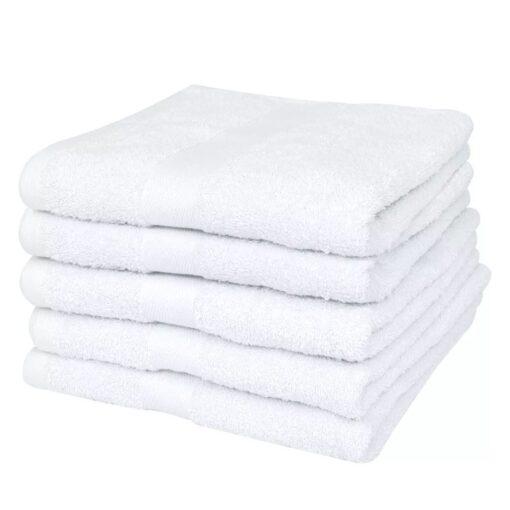 vidaXL badehåndklædesæt 25 stk. bomuld 400 gsm 100×150 cm hvid