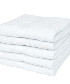 vidaXL saunahåndklædesæt 25 stk. bomuld 400 gsm 80×200 cm hvid