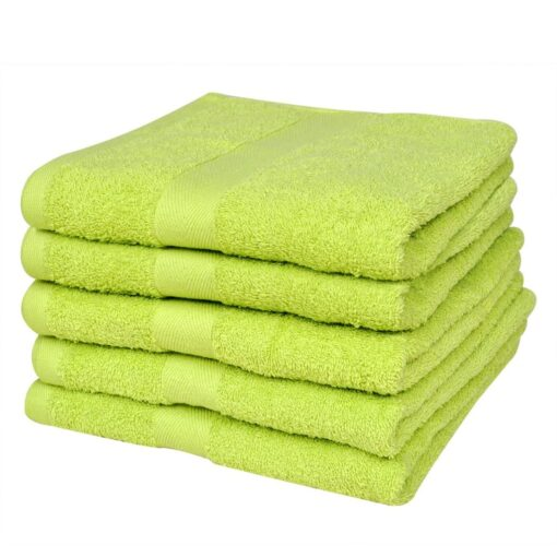 vidaXL badehåndklædesæt 5 stk. bomuld 500 gsm 70×140 cm æblegrøn