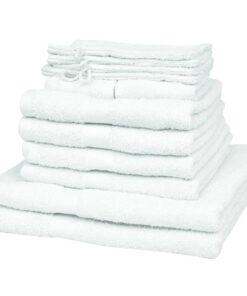 vidaXL håndklædesæt i 12 dele bomuld 500 gsm hvid