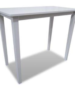 vidaXL barbord træ hvid