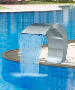 vidaXL fontæne til pool rustfrit stål 45x30x60 cm