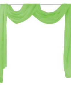 Tynde voile gardiner 140 x 600 cm grøn