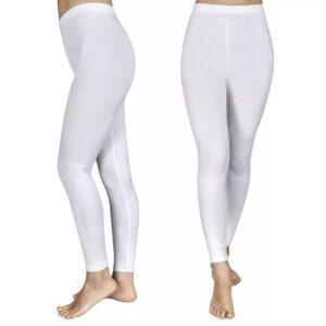 2 stk Leggings til piger 134/140, hvide