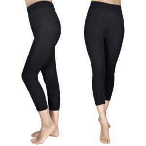 2 stk Capri leggings til piger 110/116, sorte