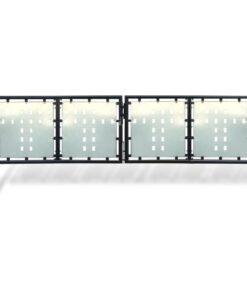 Hegnslåge dobbeltdørs 300 x 125 cm sort