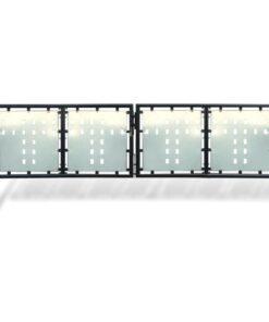 Hegnslåge dobbeltdørs 300 x 150 cm sort