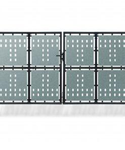 Hegnslåge dobbeltdørs 300 x 250 cm sort