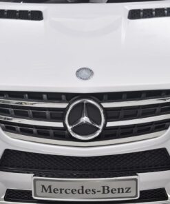 Elektrisk ride-on bil, Mercedes Benz ML350, hvid, 6 V m/fjernbetjening