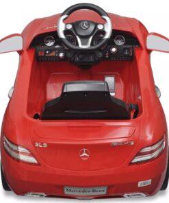 Elektrisk ride-on bil, Mercedes Benz SLS AMG, rød, 6 V, fjernbetjening