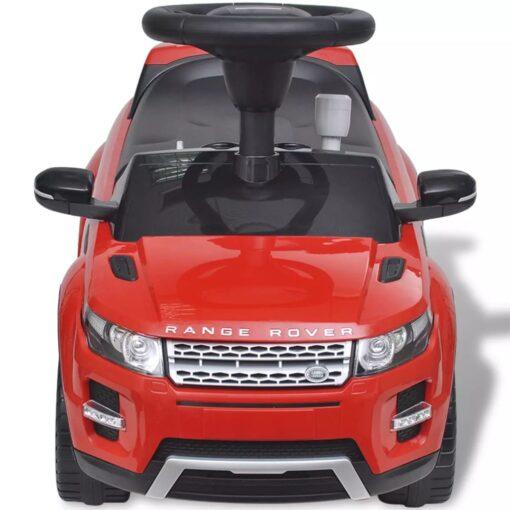Land Rover 348 Børnebil med musik, rød