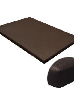 Flad firkantet hundemåtte M brun