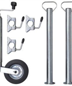 48 mm Støttehjul med 2 støtterør & 3 splitklemmer