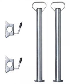 2 Støtterør med 2 splitklemmer til 48 mm støttehjul