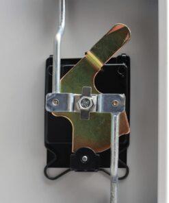 vidaXL kontorskab 2 låger grå 90 cm stål