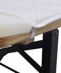 Overtræk til Ølbænk med 2 Polstrede Bænkovertræk Creme 240 x 70 cm