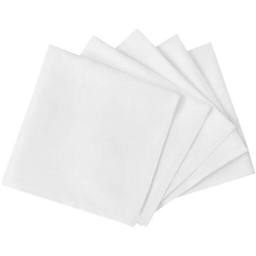 100 Middagsservietter Hvid 50 x 50 cm//
