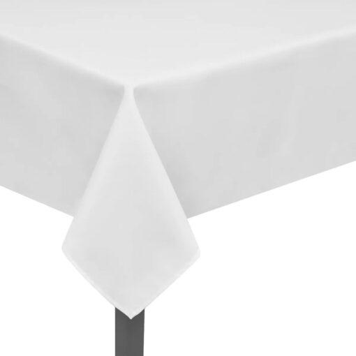 5 Bordduge Hvid 100 x 100 cm//
