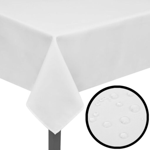 5 Bordduge Hvid 220 x 130 cm//
