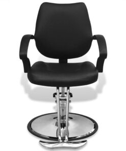 vidaXL professionel frisørstol i kunstlæder sort