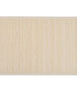 6 Bambusdækkeservietter 30 x 45 cm naturfarvet