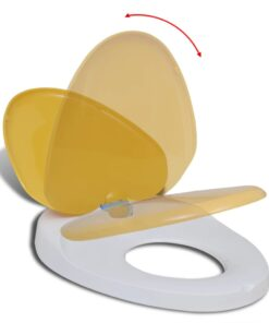 vidaXL toiletsæde soft close-funktion til voksne/børn hvidt og gult