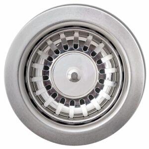 vidaXL køkkenvask i granit med afløbsbakke reversibel sort