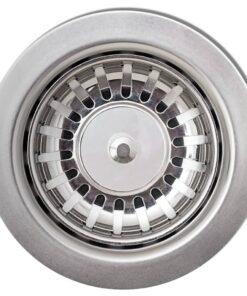 Overflademonteret dobbelt køkkenvask i granit, grå