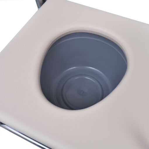 vidaXL Toiletstol Stål Sort