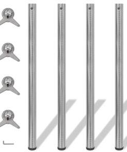 4 bordben, justerbar højde, børstet nikkel, 1.100 mm
