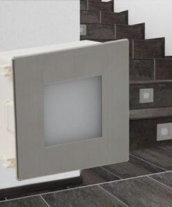 2 Sænkede LED trappelys 85 x 48 x 85 mm